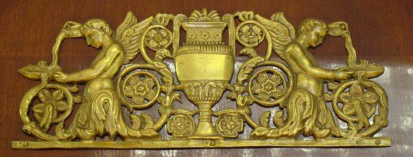 Empire Spiegel mit Bronzeapplikationen