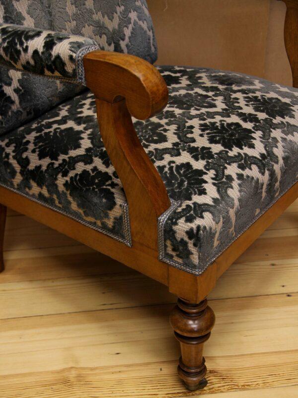 Biedermeier Ohrenbacken - Sessel