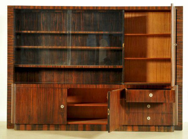 Bauhaus Bücherschrank aus Macassar