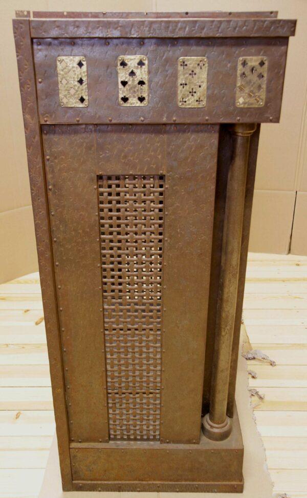Art Deco Kamin Vorbau aus Metal