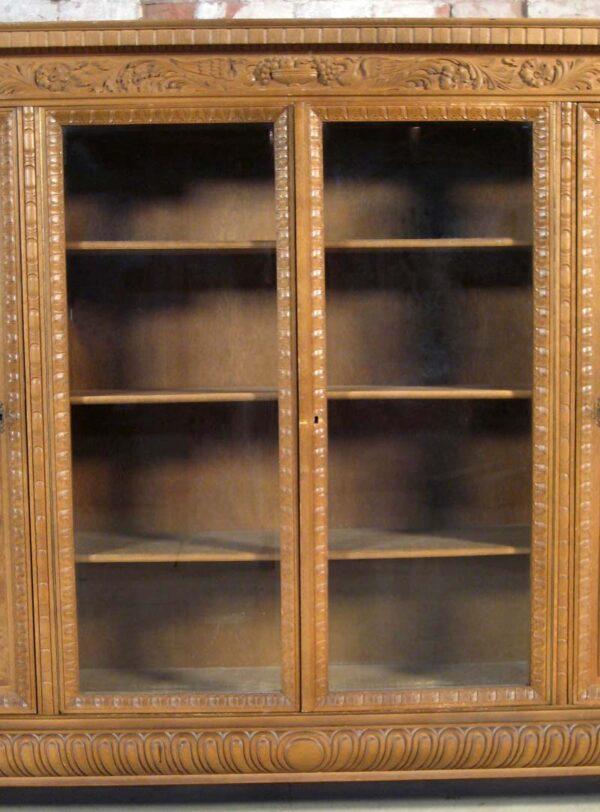 Neorenaissance Bücherschrank aus Nussbaum