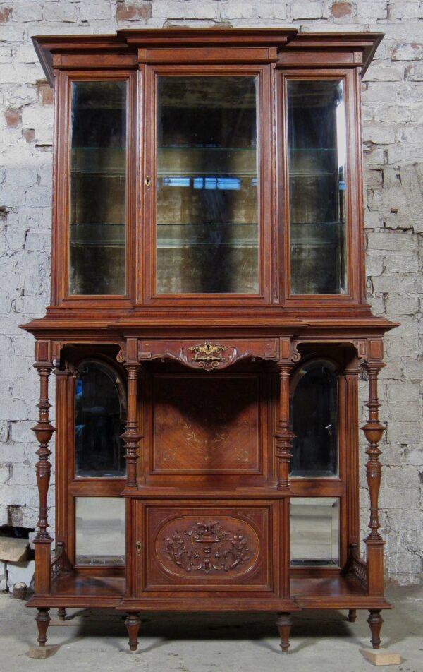 Gründerzeit Vitrine mit Vollsäulen
