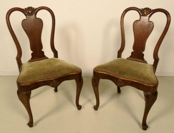 Zwei Neobarock Stühle aus Nussbaum