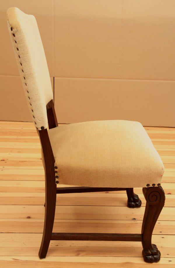 Drei gepolsterte Neorenaissance Stühle