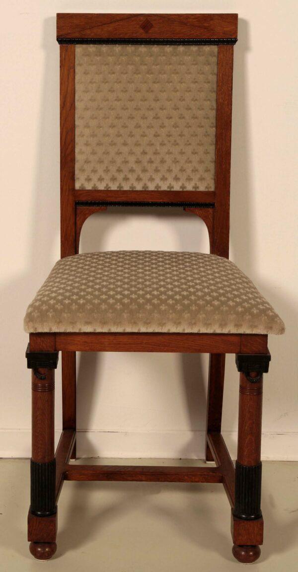 Elegantes Paar Jugendstil Stühle