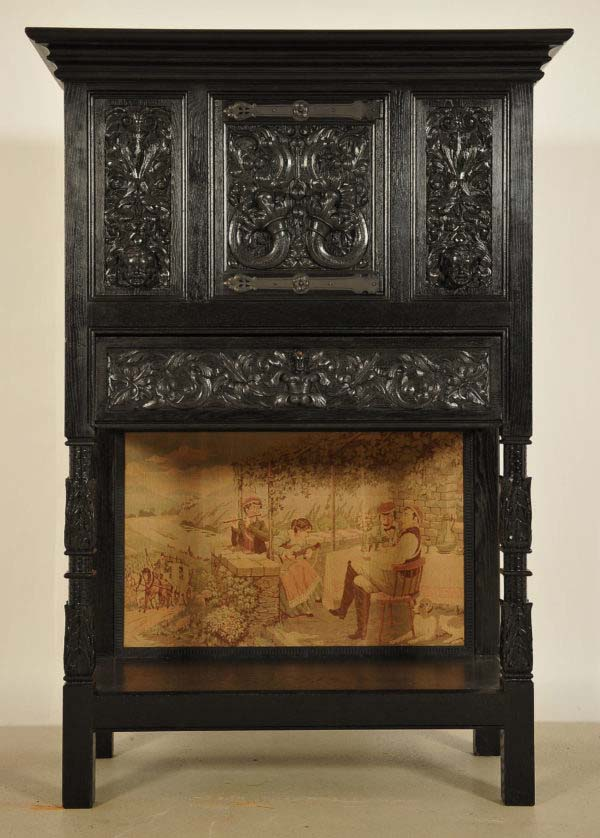Dunkler Kabinettschrank mit Schublade