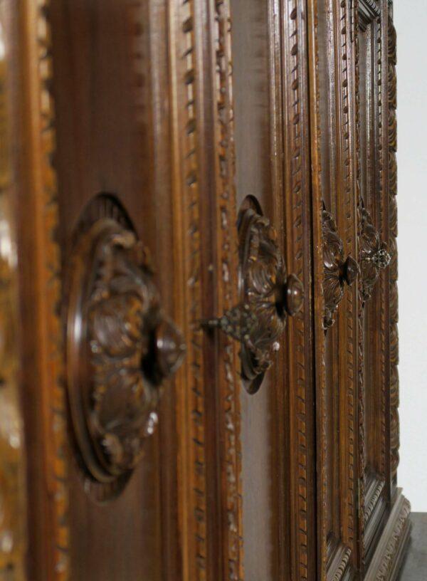 Großer Neorenaissance Bücherschrank mit vier Türen