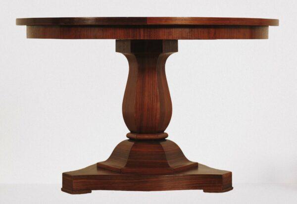 Runder Jugendstil Tisch aus Palisander