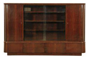 Großer Art Deco Bücherschrank