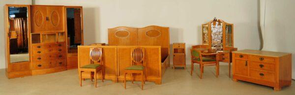 Jugendstil Schlafzimmer aus Birkenholz