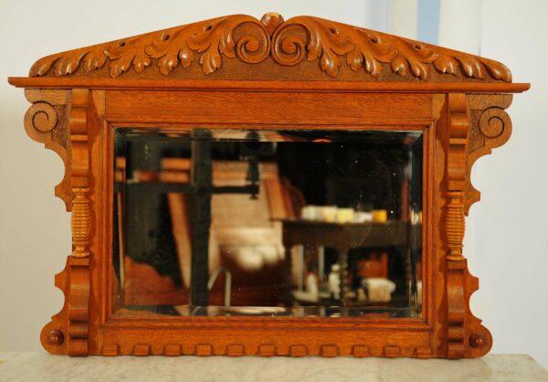 Sechsteiliges Jugendstil Schlafzimmer mit Schnitzereien