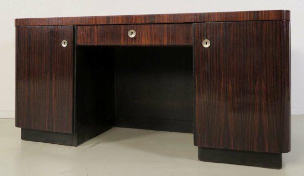 Bauhaus Schreibtisch aus Macassar