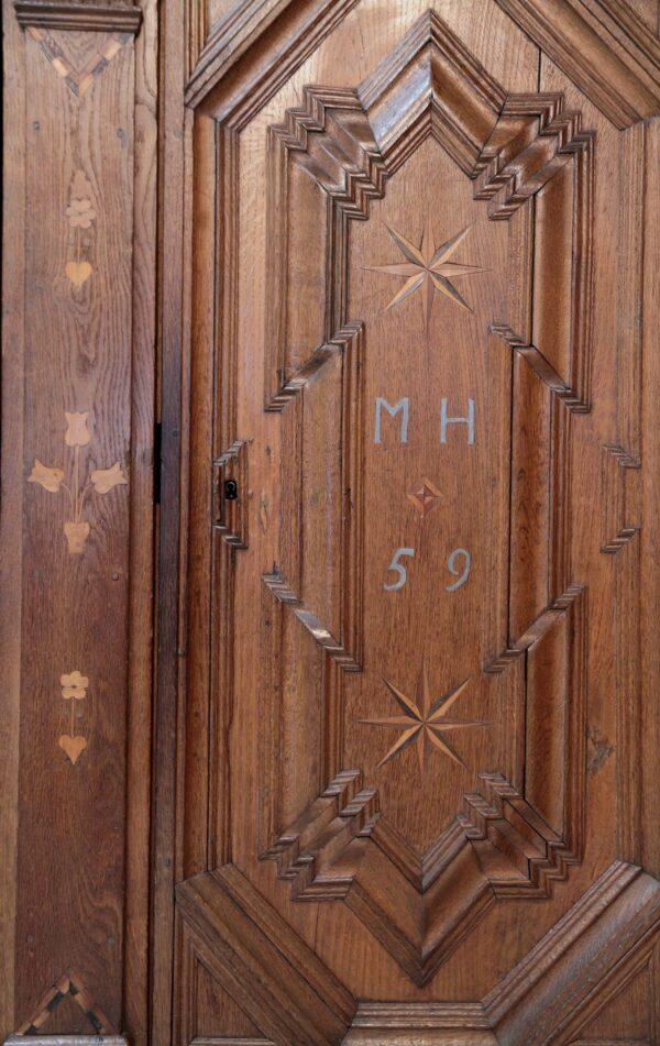 Original Barock Dielenschrank aus Eiche