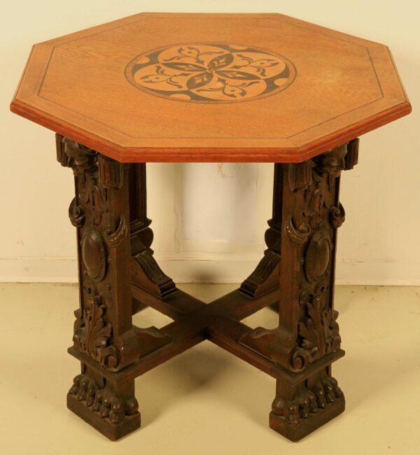 Neorenaissance Tisch mit Einlegearbeiten