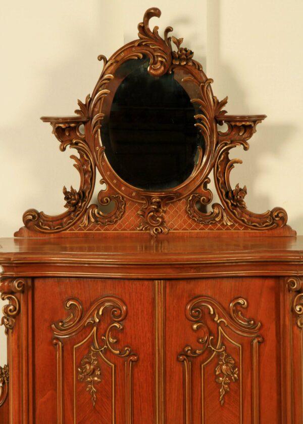 Restaurierter Neorokoko Kabinettschrank