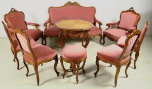 9-teilige Louis Philippe Sitzgruppe