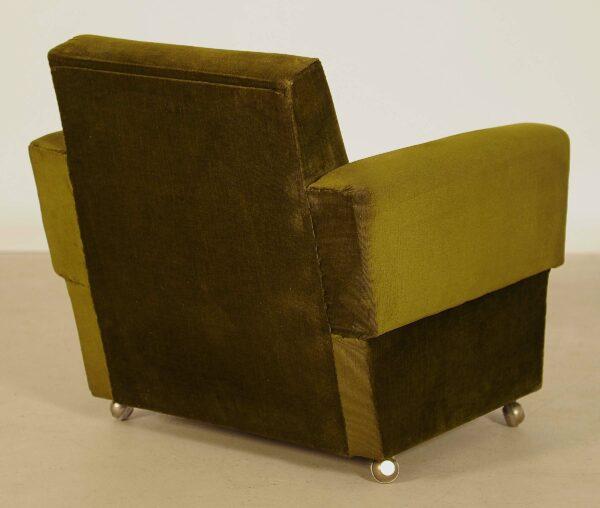 Zwei grüne Sessel aus den 70er Jahren 3
