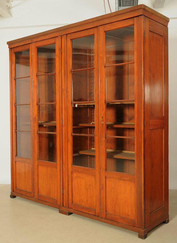 Jugendstil Bibliothek aus Weichholz